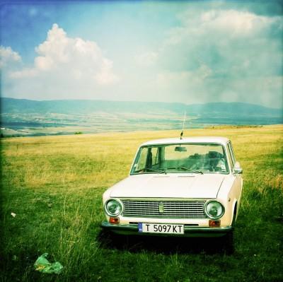 Car in the Field / Stara planina, Bulgaria 2011