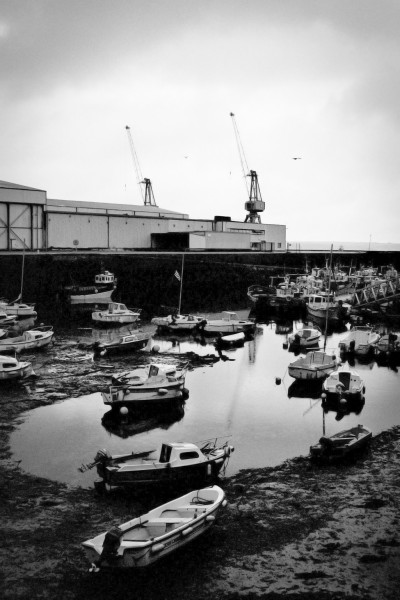 Low Water and Cranes / Brest, France 2012